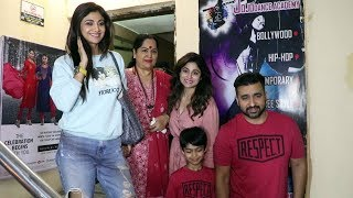 Shilpa Shetty With Family Spotted At Screening At Juhu PVR