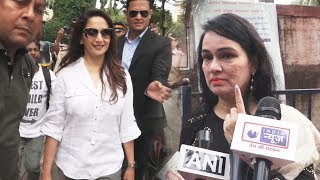 Madhuri Dixit & Padmini Kolhapure Casts Vote In Mumbai | Maharashtra Election 2019