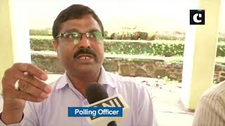 Barcode scanner is being used to identify voter details in Pune