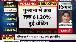 #Haryana विधानसभा चुनाव बढ़ा वोटिंग प्रतिशत