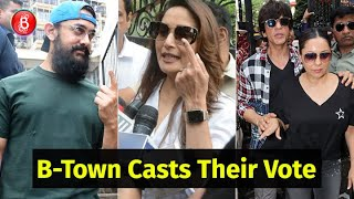 Bollywood Celebs Head Out To Cast Their Votes In The Maharashtra Elections