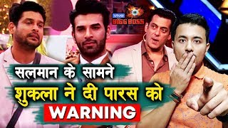 Siddharth Shukla WARNS Paras In Front Of Salman Khan | Weekend Ka Vaar | Bigg Boss 13 Update