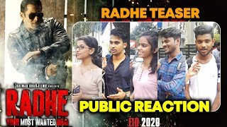 RADHE Teaser PUBLIC REACTION | Eid Radhe Ki | Salman Khan | Prabhu Deva | Eid 2020