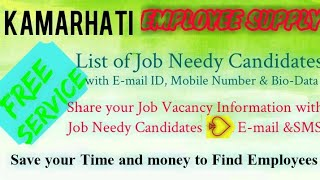 KAMARHATI      EMPLOYEE SUPPLY   ! Post your Job Vacancy ! Recruitment Advertisement ! Job Informati