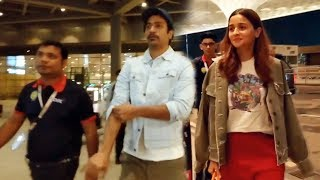 Vicky Kaushal And Alia Bhatt Spotted At Mumbai Airport