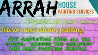 ARRAH    HOUSE PAINTING SERVICES ~ Painter at your home ~near me ~ Tips ~INTERIOR & EXTERIOR 1280x72