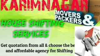 KARIMNAGAR     Packers & Movers ~House Shifting Services ~ Safe and Secure Service ~near me 1280x72