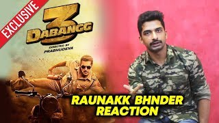 Raunakk Bhnder Reaction On Salman Khan's Dabangg 3 | Saand Ki Aankh Actor
