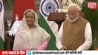 PM Narendra Modi and Bangladesh PM Sheikh Hasina launch various projects