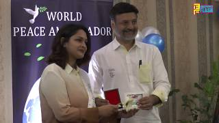 Ali Khan,Yogesh Lakhani,Binu Vargues & Sanjana Shah At World Ambassador Felicitation By Dr.Huz