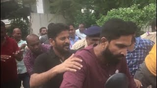 Watch How Revanth Reddy Runs From His House When Police Comes To Arrest Him.