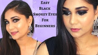 Smokey Eyes for Beginners | Super Glowy Simple Step by Step in Hindi Using Affordable Makeup