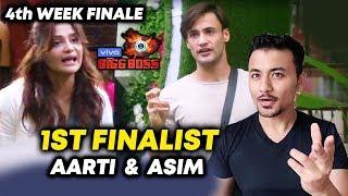 Arti Singh And Asim Riaz BECOME 1st FINALIST | 4th Week Finale | Bigg Boss 13 Latest Update