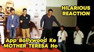 Reporter CALLS Salman Khan MOTHER TERESA, Watch FUNNY Reaction Of Bhai | Dabangg 3 Trailer Launch