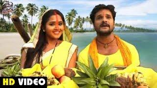 पहली बार छठ के गाने में Khesari Lal Yadav & Kajal Raghwani | घरे घरे ठेकुआ छनाता|Hit Chath Song 2019
