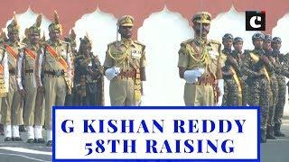 G Kishan Reddy attends 58th Raising Day Parade of ITBP