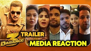 Dabangg 3 Trailer | Media Reaction | Salman Khan, Sonakshi, Saiee, Prabhu Deva