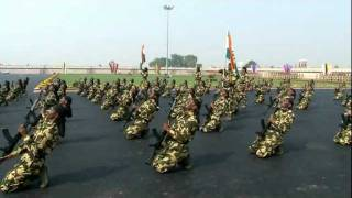 RIFLE DRILL DEMONSTRATION BY CRPF PERSONNEL ON THE OCCASION OF 72ND CRPF ANNIVERSARY AT KADARPUR, GURGAON ON 1ST NOV, 2011