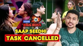 Saanp Seedhi Task CANCELLED; Here's Why | Bigg Boss 13 Latest Update