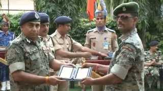 Felicitation of gallantry Medal Awardees at CRPF HQ on 29th Aug 2014