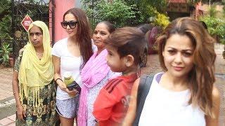Malaika Arora With Sister Amrita Arora Spotted At Diva Yoga Bandra