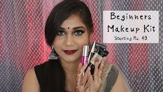 Complete Beginners Makeup Kit | Festive Makeup Essentials For Beginners | Nidhi Katiyar