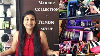 Makeup Collection 2019 + Filming Set Up | Nidhi Katiyar Makeup Collection 2019