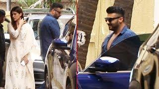 Arjun Kapoor And Kriti Sanon Spotted At Ashutosh Gowariker Office Khar
