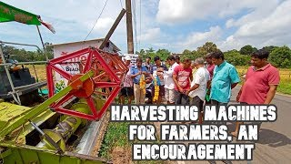 Social Worker Distributes Harvesting Machines To Farmers, Encourages Agricultural Activities