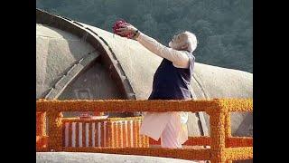 Gujarat: PM Modi pays floral tribute to Sardar Patel at Statue of Unity in Kevadia
