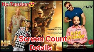 Housefull 4 Vs Ujda Chaman Vs Terminator Dark Fate Screen Count Details