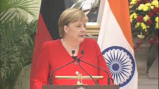 Remarks by PM Shri Narendra Modi at joint press meet with German Chancellor