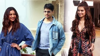 Siddharth Malhotra, Tara & Rakul Preet Snapped Promoting Their Movie Marjaavaan At Sun & Sand Juhu