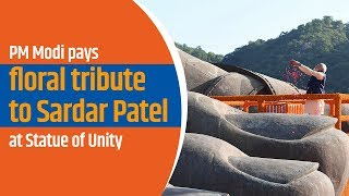 PM Modi pays floral tribute to Sardar Patel at Statue of Unity in Kevadia, Gujarat | PMO