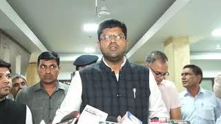 दिल्ली के मुख्यमंत्री अरविंद केजरीवाल को क्या जवाब दिया दुष्यंत चौटाला ने