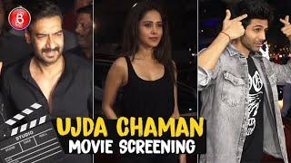 Kartik Aaryan, Nushrat Bharucha, Ajay Devgn At Sunny Singh's Ujda Chaman Screening