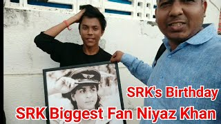 SRK Biggest Fan Niyaz Khan Waiting At Mannat Bungalow To Gift His Old Picture On Shah Rukh Birthday