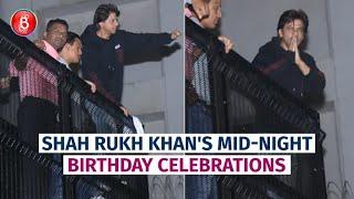 Despite Heavy Rains, Shah Rukh Khan Greets His Fans On His 54th Birthday Outside Mannat
