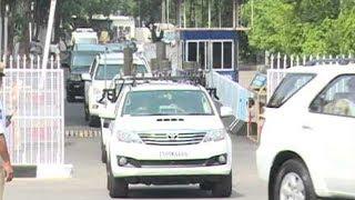 CM KCR Vehicles Stated to Huzurnagar Public Meeting | CM Convoy Video | Top Telugu TV