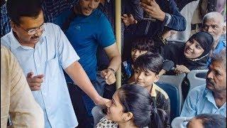 Buses Free For Women In Delhi   Arvind Kejriwal In The Buses Of Delhi   @ SACH NEWS  