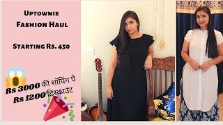 UPTOWNIE TRY ON HAUL | CLOTHING HAUL | FLIPKART AMAZON BESTSELLERS | FESTIVE HAUL | Nidhi Katiyar