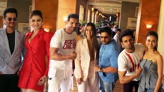 Pagalpanti Movie Promotion With All Star Cast At JW Marriott Juhu - John, Urvashi, Arshad, Ileana
