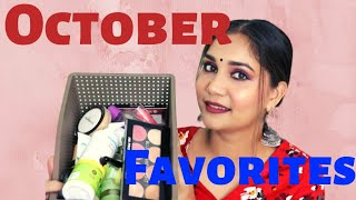 Monthly Favourites October 2019 | Mini Reviews | Blue heaven, pixi , mama earth | Nidhi Katiyar