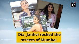Dia, Janhvi rocked the streets of Mumbai