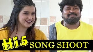 "Mannara Chopra Sizzling Dance - ""Hi 5"" Movie Making Video    Bhavani HD Movies"