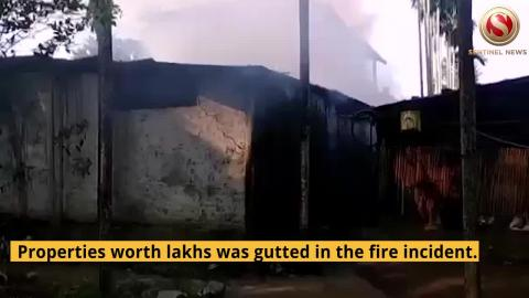 Fire breaks out at Almirah Factory in Tinsukia, Properties worth lakhs gutted