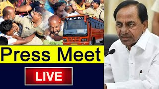 KCR LIVE | CM KCR Press Meet On TSRTC Strike | Bandi Sanjay | Top Telugu TV