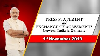 Press Statement and Exchange of Agreements between India & Germany