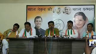 Economic Crisis: AICC Press Briefing By Rajiv Satav in Surat, Gujarat