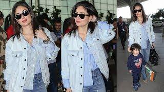 Stunning Kareena Kapoor Spotted With Cute Taimur At Mumbai Airport